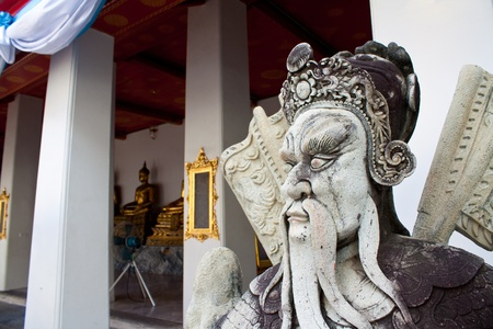 sculpture at wat pho, bangkok, thailand photo