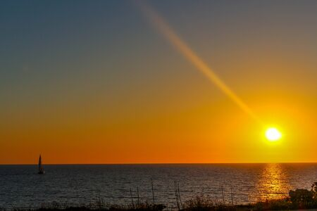 sunset Menorca Stock Photo