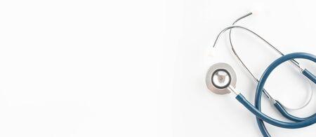 Stethoscope for doctor examination sound in human body on white background. Standard-Bild - 132848764