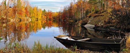 Swedish autumn lake photo