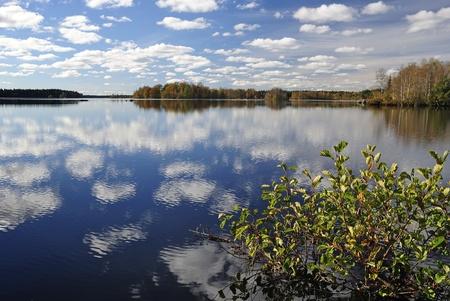 Miraculous autumn s lake view