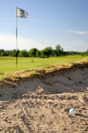 Shoot golf Unlucky Foto de archivo - 16289721
