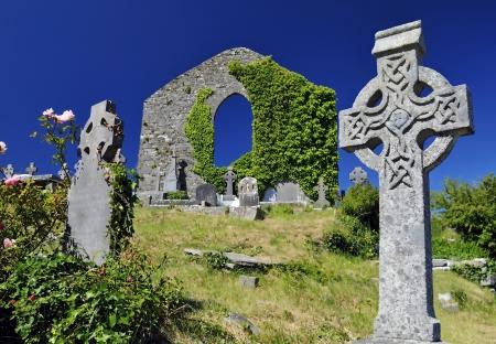 Keltische begraafplaats Stockfoto