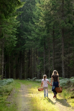 Children in forest  photo