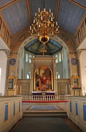 Altar de la iglesia sueca Foto de archivo - 16471255