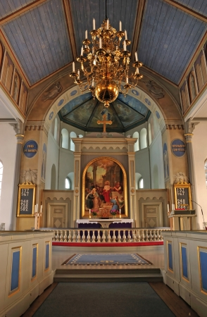 Swedish church altar