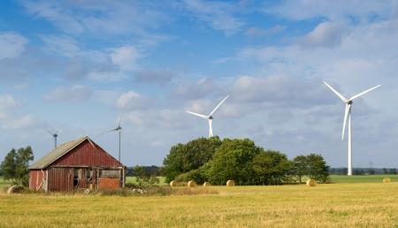 Zweedse landbouw landschap Stockfoto