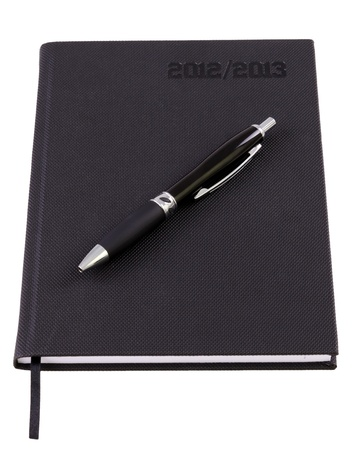 Business organizer for 2013 with pen  photo