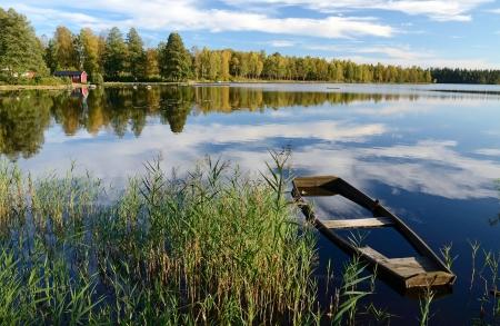 Mooie september het landschap Stockfoto
