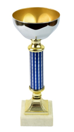 commendation: First price trophy isolated on white background