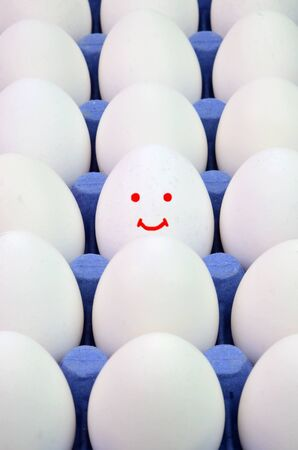 Concept image of best quality farm eggs  Stock Photo