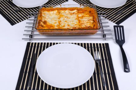 Fresh made lasagna ready to serve Stock Photo - 17754329