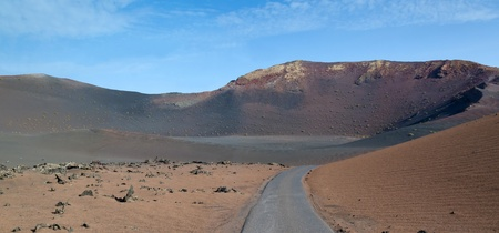 Road to volcano crater photo