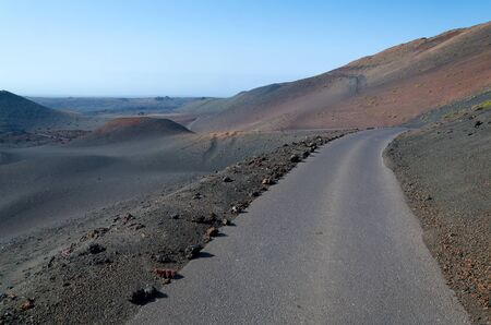 Road in volcano area photo