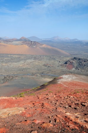 Vertical landscape for volcano hills photo