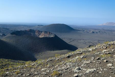 Lanzarote volcano crater photo