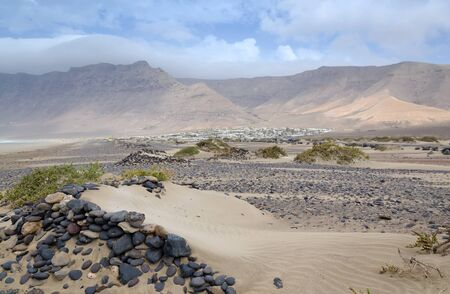 Arid scenery on Lanzarote island Stock Photo - 17932061