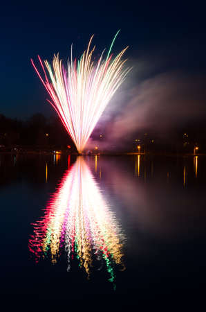 Swedish spring fireworks photo