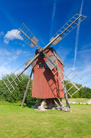 oland: Traditional Swedish old windmill