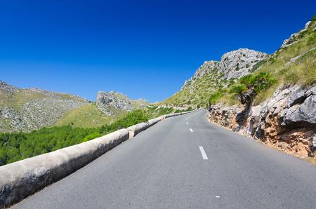 Mountain road on Majorca photo