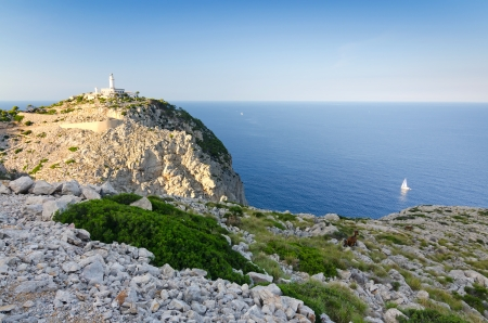 Formentor lighthouse area at sunset photo
