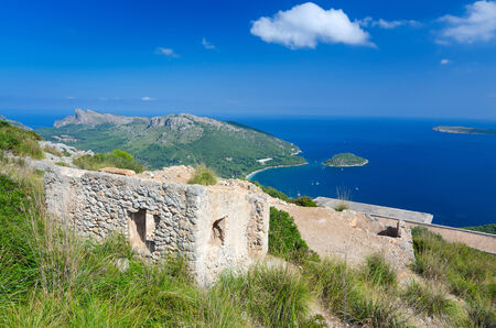Majorca house ruins on Pollenca hills photo