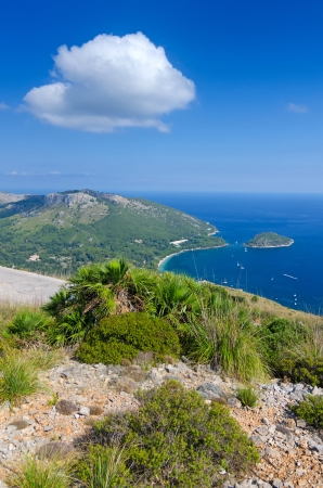 Vertical landscape of Formentor cape Stock Photo - 22989918