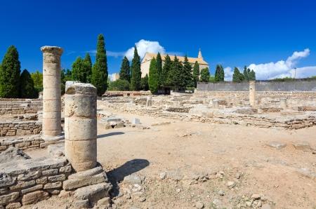 ancient roman: Roman ancient signs on Majorca Stock Photo