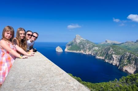 Happy family on Majorca island holidays