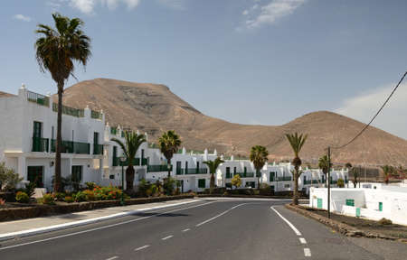 Beautiful Yaiza city on Lanzarote Island Stock Photo - 24189361