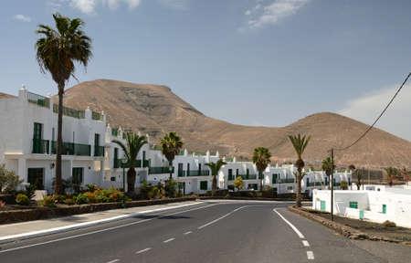 Beautiful Yaiza city on Lanzarote Island Stock Photo - 24189361