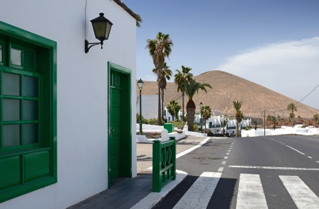Lanzarote s typical city architecture photo