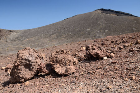Volcano ground details on Lanzarote island photo