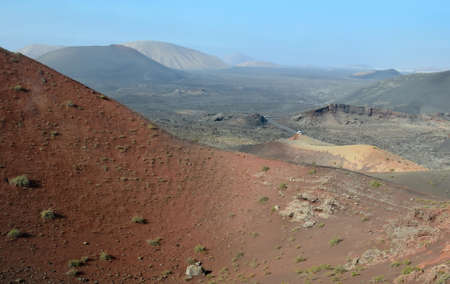 Arid landscape - view from volcano hill photo