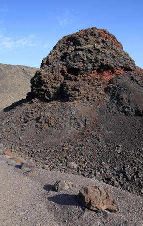 solidified: Solidified lava on Lanzarote Island