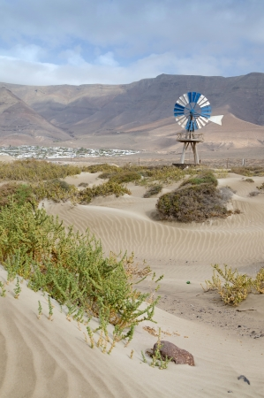 bomba de agua: La bomba de agua en un paisaje �rido