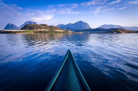 Canoe adventure in Norway Stock Photo