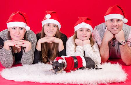 Christmas family portrait photo