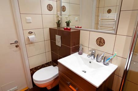 Bathroom toilet corner