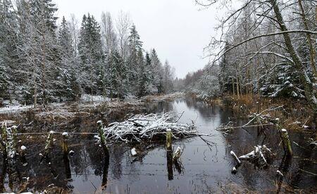 overflow: Winter overflow Stock Photo
