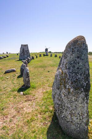 Ancient stone henge on Oland island