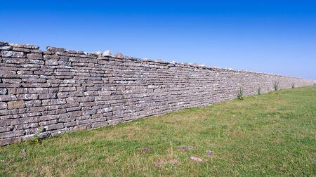 oland: Ancient stone fence on Oland island