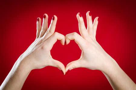symbolic: Symbolic hands heart shape Stock Photo