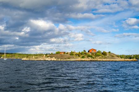 archipelago: Swedish archipelago panorama in spring season