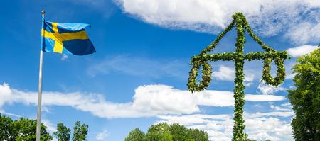 Midsummer traditional Swedish symbols photo