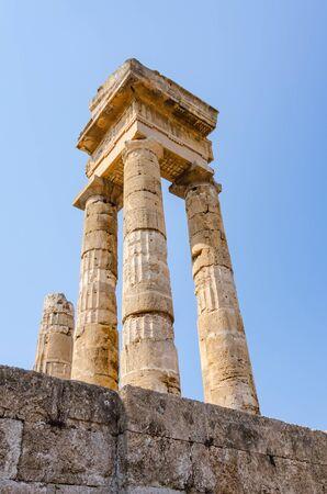 rhodes: Majestic Apollo ruins on Rhodes