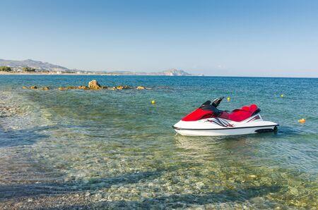jetski: Jetski on the Greek beach