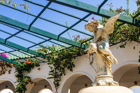 rotunda: Angel statue in Kallithea rotunda Stock Photo
