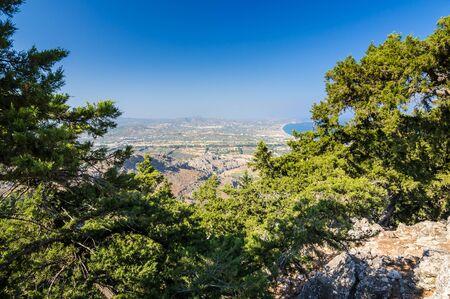 tsampika: Kolymbia city - view from the hill Stock Photo