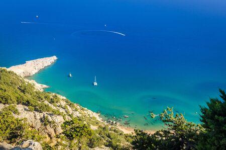 tsampika: Beautiful sea shore in Greece